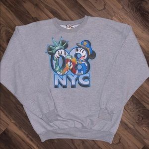 Mickey Mouse Minnie Mouse NYC Crewneck Sweater